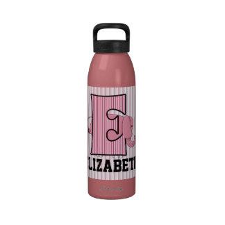 Pink Elephant Monogrammed E Kid s Liberty Bottl Reusable Water Bottle