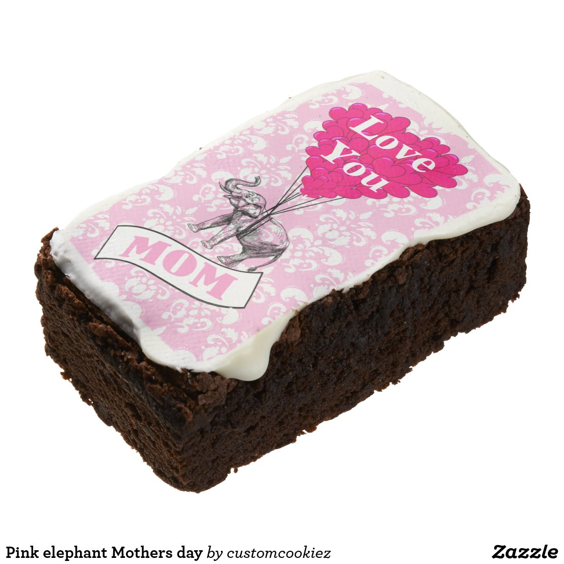 Pink elephant Mothers day Brownie