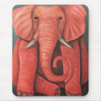 Pink Elephant Mouse Pads