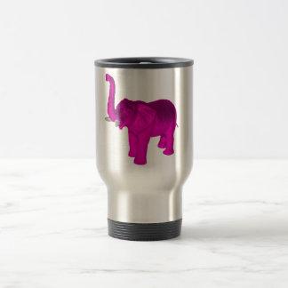 Pink Elephant 15 Oz Stainless Steel Travel Mug