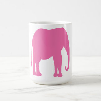 Pink Elephant mug. Classic White Coffee Mug
