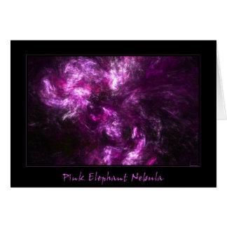 Pink Elephant Nebula Card