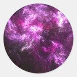 Pink Elephant Nebula Classic Round Sticker