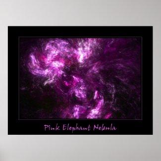 Pink Elephant Nebula print