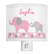 Pink Elephant Night Light