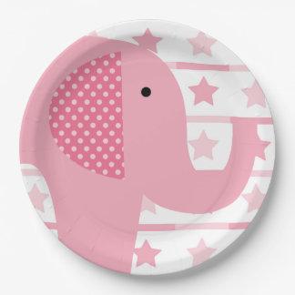 Pink Elephant Paper Plates