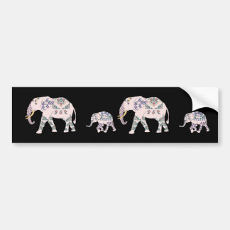 Pink Elephant Parade Bumper Sticker