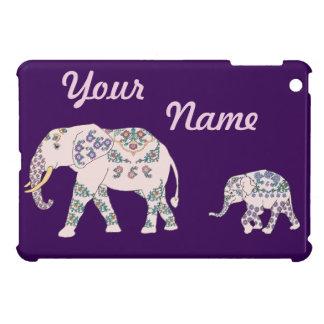 Pink Elephant Parade iPad Mini Cases