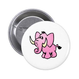 Pink Elephant Pinback Button