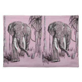 Pink Elephant Cloth Placemat