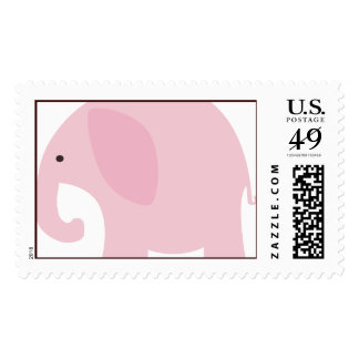 Pink Elephant Postage Stamps