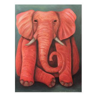 Pink Elephant Postcard
