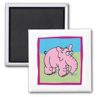 Pink Elephant Refrigerator Magnet