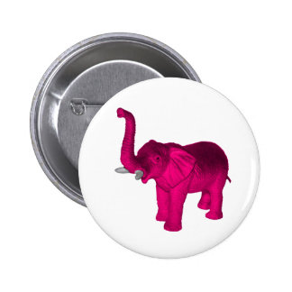 Pink Elephant(s) Pinback Buttons