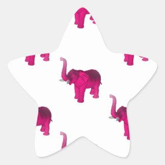 Pink Elephant(s) Star Sticker