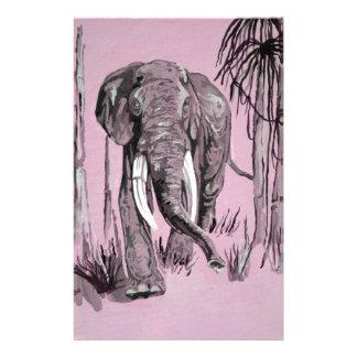 Pink Elephant Customized Stationery