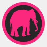PINK ELEPHANT STICKERS