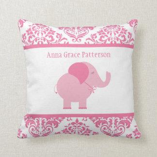 Pink Elephant Throw Pillows