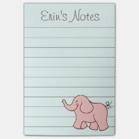 Pink Elephant To Do List Post It Notes Gift