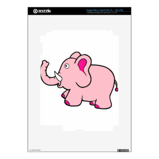 Pink Elephant Trunk Up Super Cute Decals For iPad 3