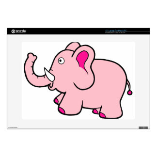 Pink Elephant Trunk Up Super Cute Skin For Laptop