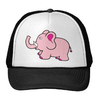 Pink Elephant Trunk Up Super Cute Trucker Hat
