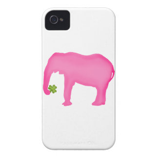 Pink Elephant with a Clover iPhone 4 Cover
