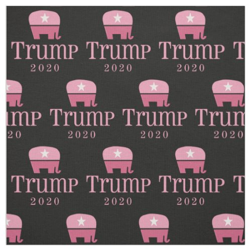 Pink Elephant Women for Donald Trump 2020 Fabric