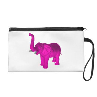 Pink Elephant Wristlet