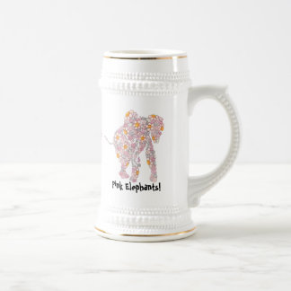 Pink Elephants Beer Stein