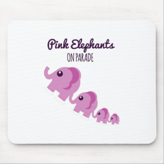 Pink Elephants On Parade Mouse Pads