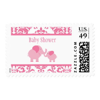 Pink Elephants Postage Stamp