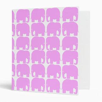 Pink Elephants Silhouette Binder