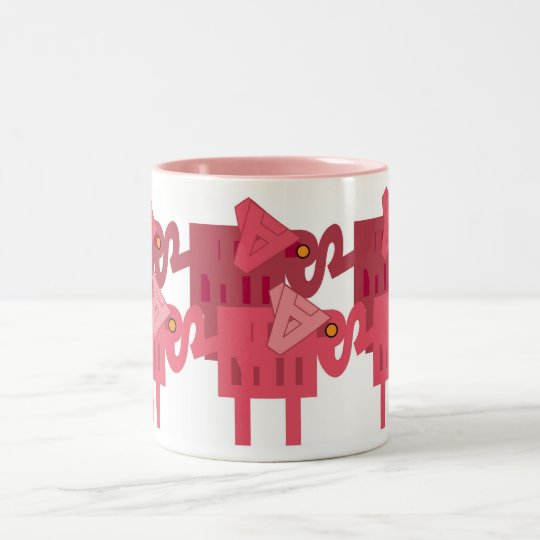 Pink ELEPHANTS Two-Tone Coffee Mug
