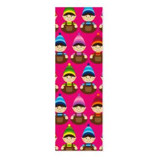 Pink Elf Repeat Bookmark Business Card