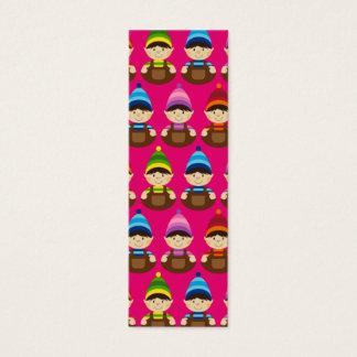 Pink Elf Repeat Bookmark Mini Business Card