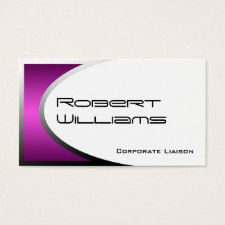 Pink Ellipse Modern Professional Business Card