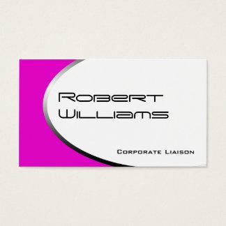 Pink Ellipse Modern Professional Business Cards