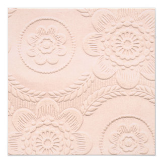 PInk Embossed Look Baby Shower Invitation