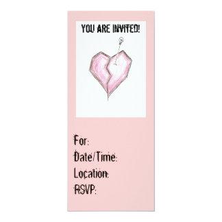 Pink Emo Invitations Birthay any occasion