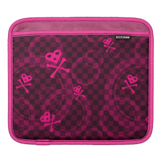 Pink Emo Pattern With Circles iPad Sleeve