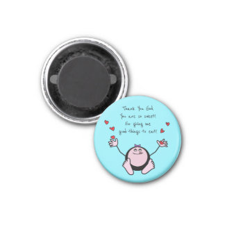 Pink Emoji Children's Meal Prayer Magnet