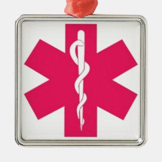 Pink EMT Metal Ornament