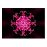 Pink enamel fibula business cards