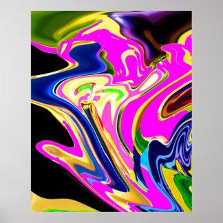 Pink Energy  Flare - Romantic Healing Pattern Print