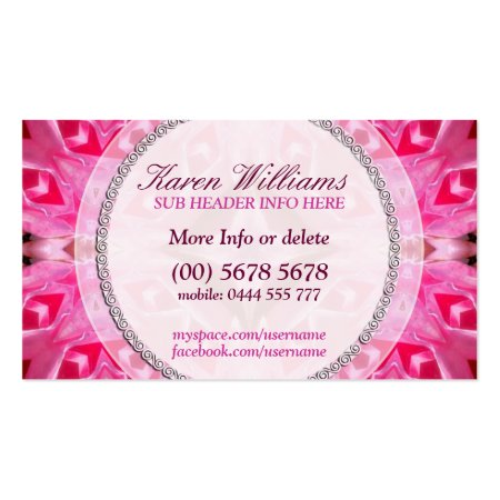 Beautiful Pink Energy Pattern New Age Holistic Business Cards