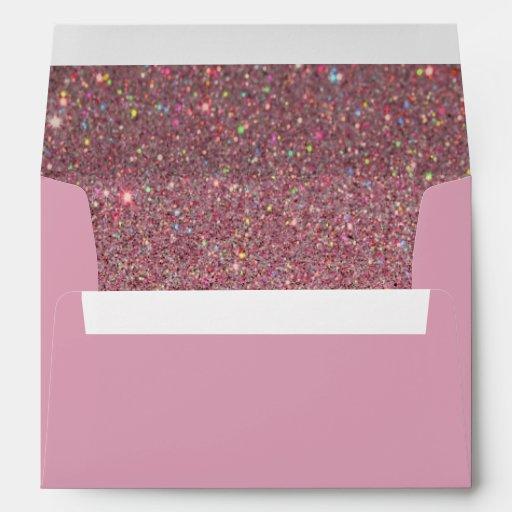 Pink Envelope, Pink Glitter Lined