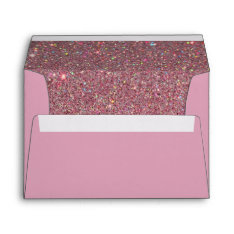 Pink Envelope, Pink Glitter Lined Envelope at Zazzle