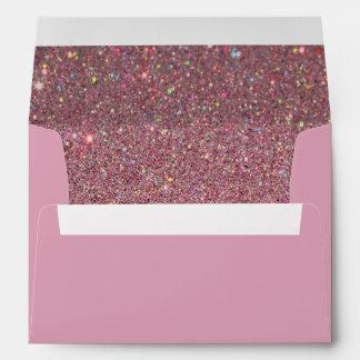 Pink Envelope, Pink Glitter Lined Envelope