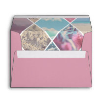 Pink Envelope Summer Diamond Pattern Lining